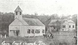 photo of the first church and parsonage